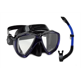 2578e3816d0 Máscara Snorkel Kit Mx01 - Preto aro Azul Fun Dive